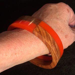 Bracelet Woodgrain & Orange OSFM